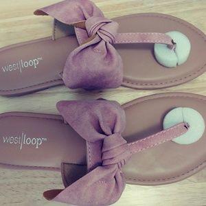 Soft Suede Sandals Size L (9/10)